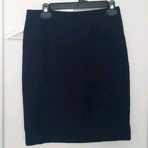 Navy blue/purple pencil skirt